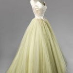 robe longue bustier jaune tres pale style danseuse