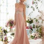 robe longue bustier rose pale pour mariage
