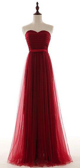 robe longue bustier rouge avec tulles