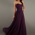 robe longue bustier tres fluide violette en mousseline et voile