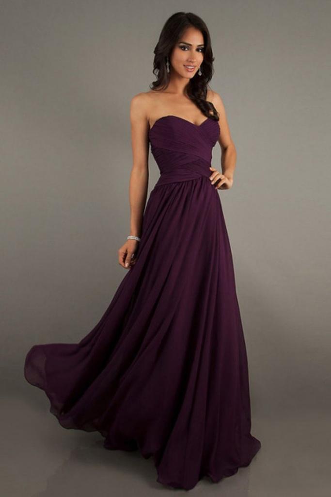 le plus fiable mieux classcic robe longue bustier tres fluide violette en mousseline et voile ...