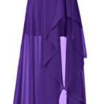robe longue bustier violetta fendue devant
