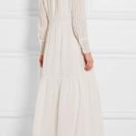 robe longue coton blanche boheme manches longues