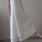 robe longue coton blanche doublee sans manche