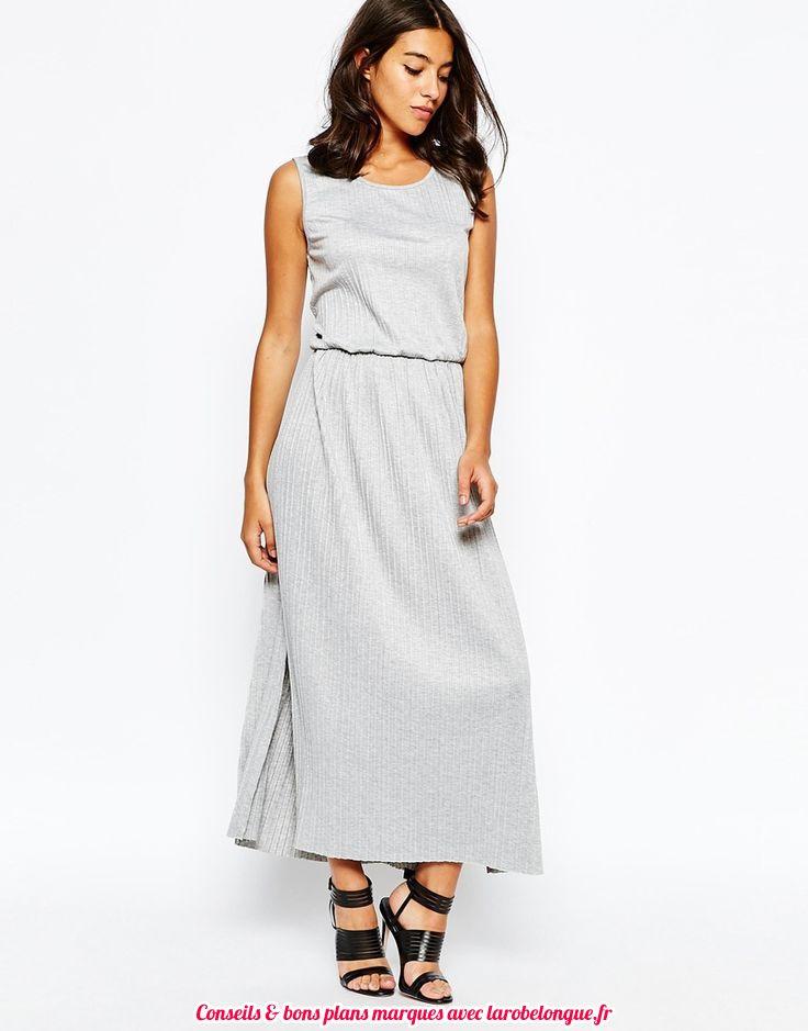 robe longue coton blanche grise sans manche fendue