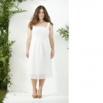 robe longue coton castaluna broderie anglaise blanc