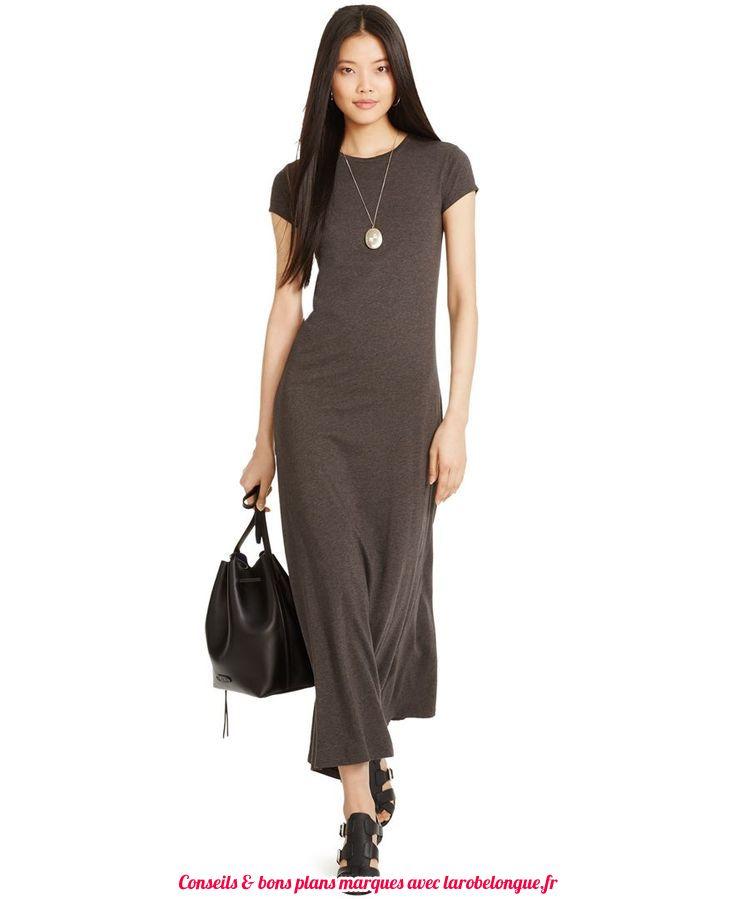 robe longue coton ete pres du corps moka