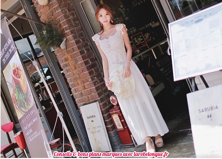 robe longue coton femme broderie mariage