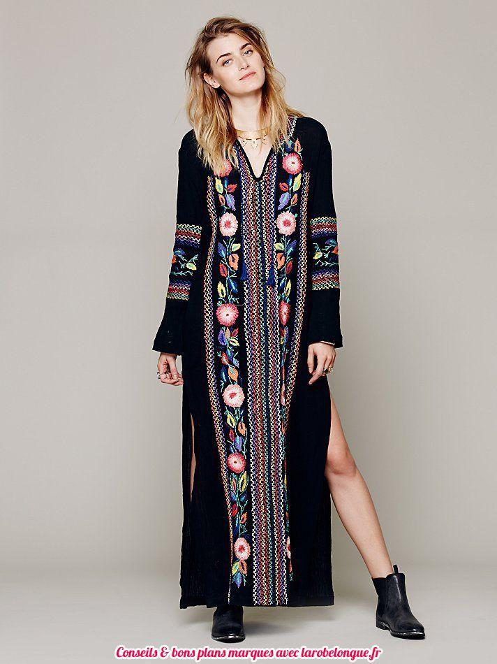 robe longue coton femmemanche longue boheme