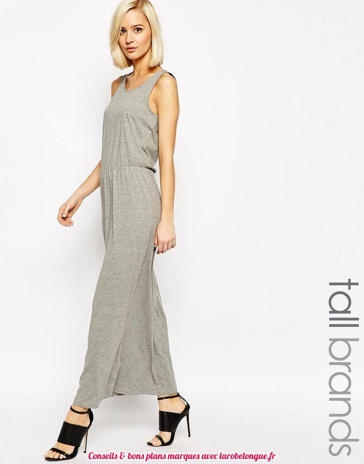 169736539d9 robe longue coton grise pas cher voile leger - la robe longue