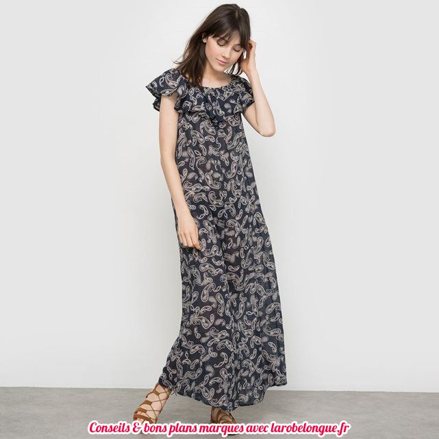 robe longue coton la redoute cachemire benetton