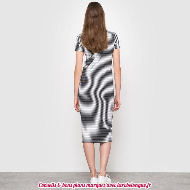 robe longue coton la redoute pas cher
