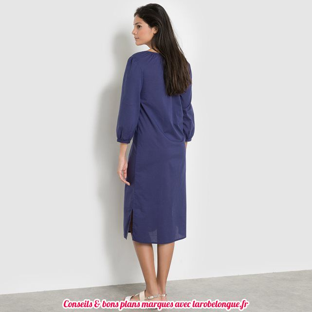 robe longue coton la redoute voile coton