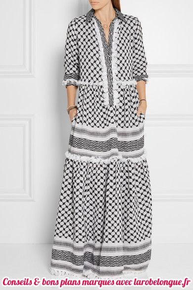 robe longue coton maxi longueur