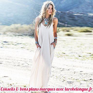 robe longue en coton blanche pour femme fine bretelle