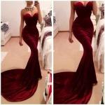 robe maxi longue bustier de sirene tres moulante rouge
