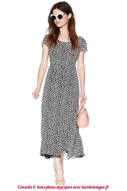 robe mi longue en coton imprime animal manche courte