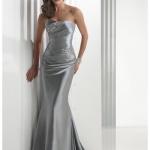 robe moulante longue bustier grise