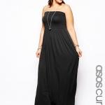robe noire bandeau longue bustier grande taille