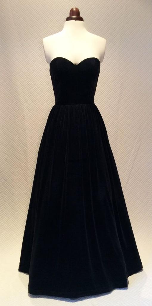 robe noire longue bustier hiver