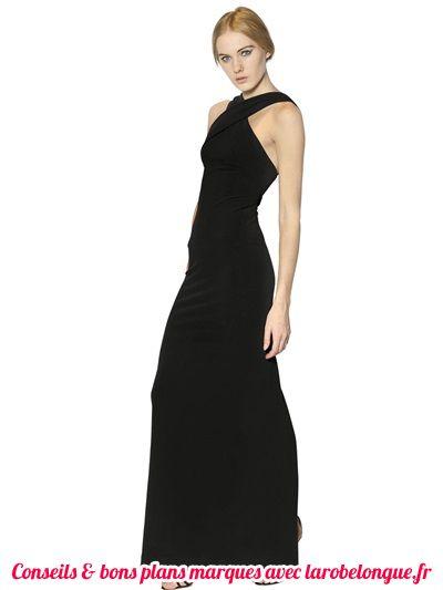 robe noire longue en coton bretelle croise orignale habillee pour soiree