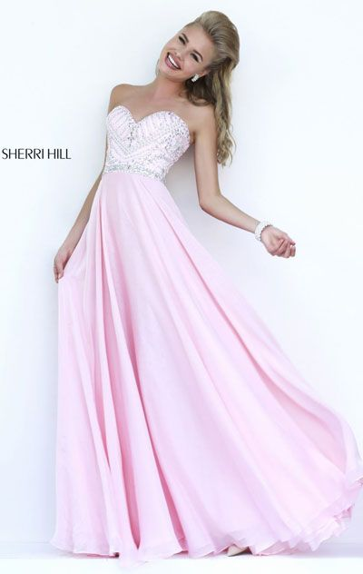 robe rose fluide longue bustier avec paillettes