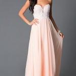 robe rose pale longue bustier pour bal de promotion