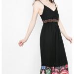 Robe desigual anaraus ete 2016 noire et fines bretelles