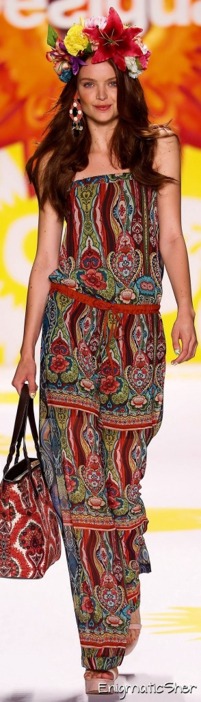 Robe longue desigual 2015 gipsie sans manche