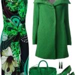 Robe longue desigual ete verte sans manche