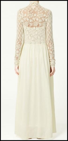 Belle robe longue zara dentelle mariage