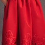 Jolie robe habillee longue rouge pour bal