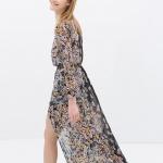 Ravissante robe longue zara ete 2014 asymetrique