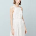 Robe blanche mango ideale pour mariage dentelle et dos nu