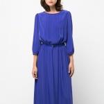 Robe bleu ellectrique mango manches longues