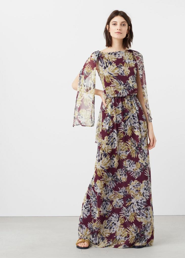 code promo d3fb1 011e1 Robe estivale mango longue en voile - la robe longue