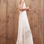 Robe longue blanche dentelle anglaise et fines bretelles