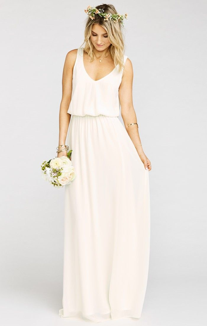 robe longue demoiselle d honneur blanche sans manche la robe longue. Black Bedroom Furniture Sets. Home Design Ideas