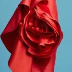 Robe longue femme rouge de soiree avec large noeud bas des reins