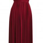 Robe longue rouge bordeaux pour gala sans manche et dos ouvert