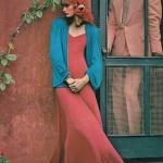 Robe longue rouge delave coton fluide
