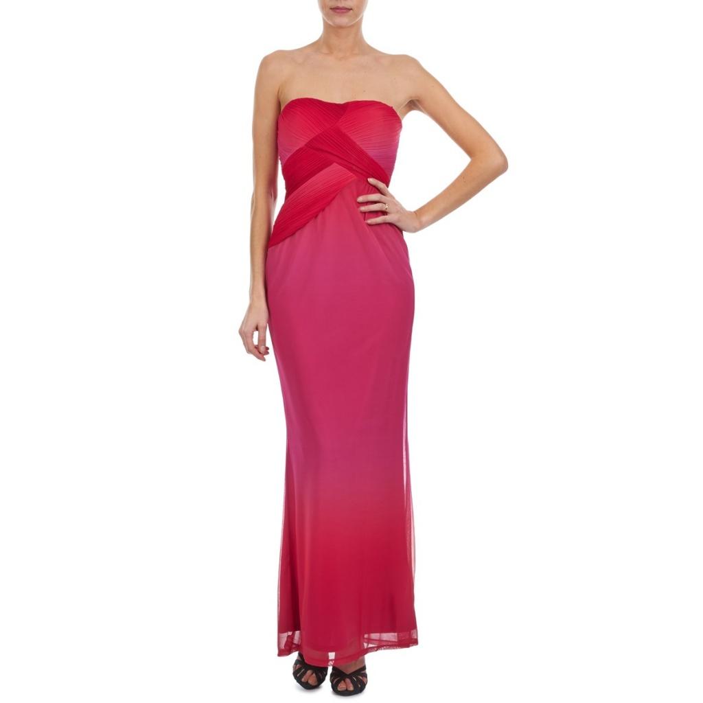 Robe longue rouge manoukian bustier rose
