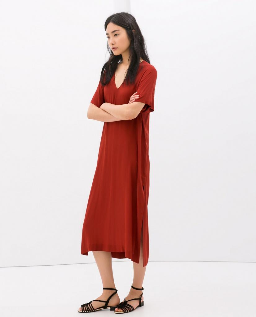 Robe longue zara fille rpuge manche courte