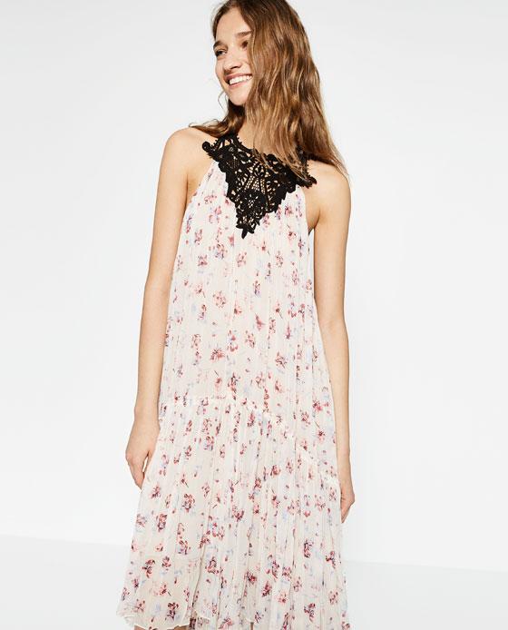 Robe longue zara imprime fleuri ete 2016 - la robe longue 90b4d4f72f79