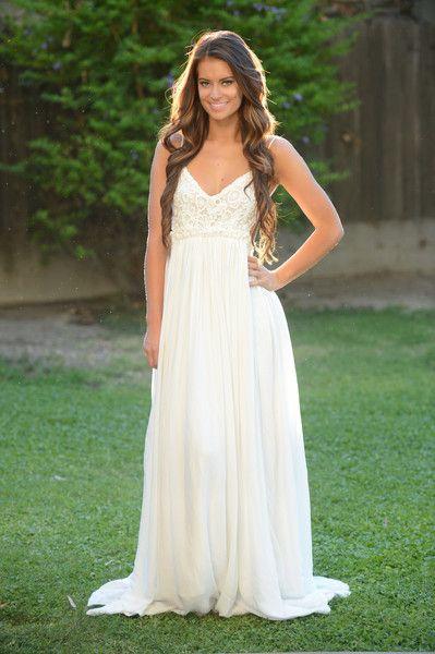 robe très longue blanche