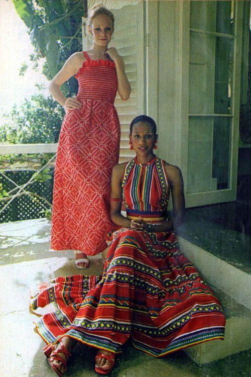 Robes longues femme rouges exprit ethnique