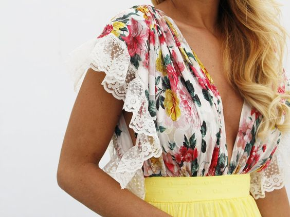floraltop florales largo 60 Vestido hermosos vestidos rxoeCWdB