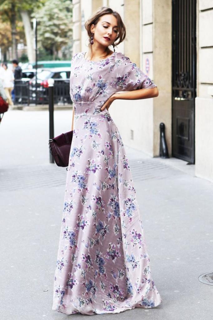 Robe a fleur tres elegante et longue