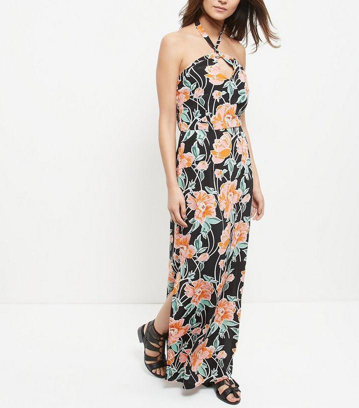 Robe fleur newlook longue pas chere