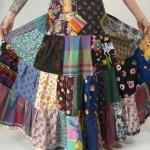 Robe longue bohemienne patchwork